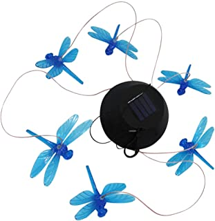 YARNOW Solar Dragonfly Wind Chimes Outdoor Waterproof Mobile Romantic LED Color- Changing Multi Solar Sensor Powered Wind ...