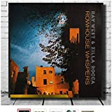 Swarouskll Ray West e Zilla Rocca Poster su Tela Stampa Artistica Album Rowhouse Whispers Wall Art for Living Room Decoration Gift -24x24 inch No Frame 1 PCS