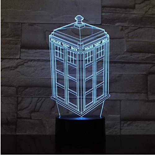Call Box 3D Lampe Veilleuse Enfants Kid Bébé Cadeau Cabine de Téléphone Police Box Décoratif Lampe Doctor Who Led Veilleuse