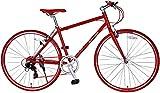 SPEAR (スペア) クロスバイク 700C シマノ製 7段変速 SPC-7007 ディレーラー Tourney(ターニー)男性 女性 適用身長 160cmI以上 1年保証 (レッド)