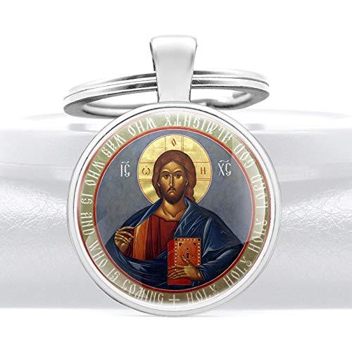 Inveroo Klassisches Orthodoxes Christentum Symbol Anhänger Schlüsselanhänger Charme Männer Frauen Schlüsselringe Schmuck Geschenke