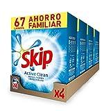 Skip Detergente en Polvo Active Clean 67 lavados - Pack de 4