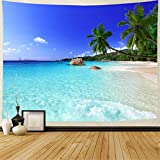 Tapestry Ocean Beach Tapestry Wall Hanging Tropic Paradise Beach Wall Tapestry Coconut Tree Tapestry Hippie Bohemian Tapestry Palm Tree Tapestry for Home Decor