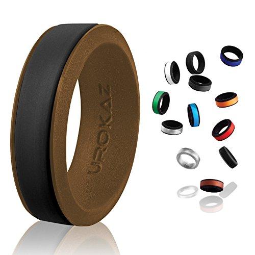 UROKAZ Silicone Wedding Ring Black /BrownSize 10Inner Diameter ~ 19.76 mm Black...