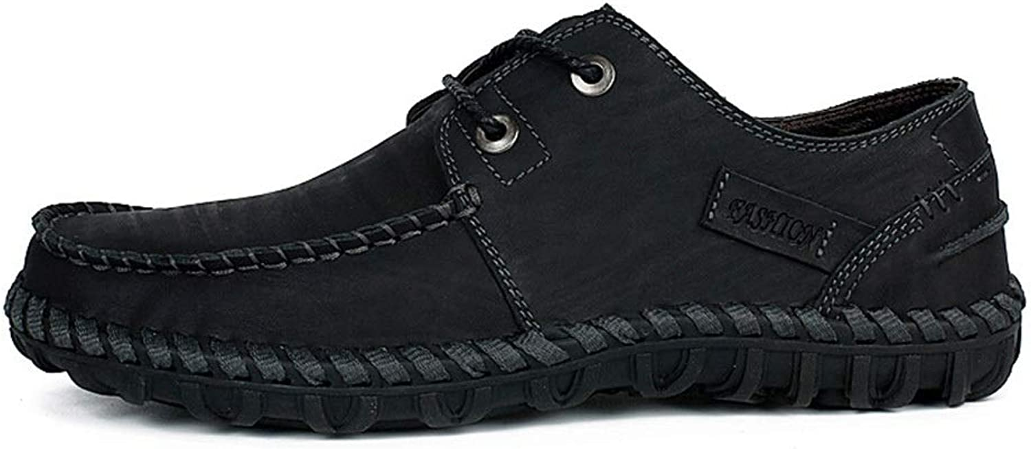 Low to Help Comfortable Handmade shoes Leather Men's Casual shoes Wear shoes (color   Black, Size   39)