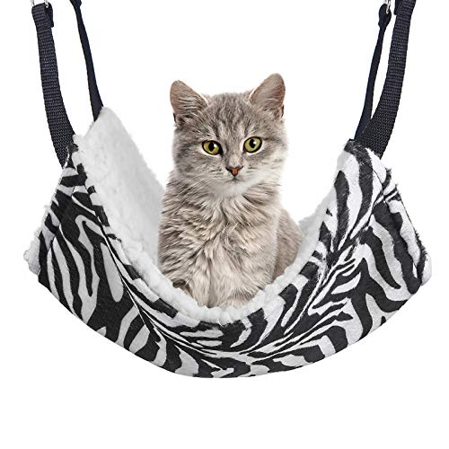 NOYAL 2 Pack Cat Hammock Bed Hanging Soft Pet Bed Pet Cage Hammock Heavy Duty Hammock for Puppy Kitty and Ferrets Holds Up to 20lbs