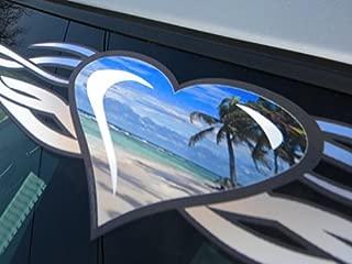 East Coast Vinyl Werkz Tribal Heart 'Beach' windshield decal banner