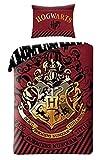 Harry Potter Wende-Bettwäsche-Set Funda de Edredón 140x200 Algodón Ropa de Cuna Hogwarts