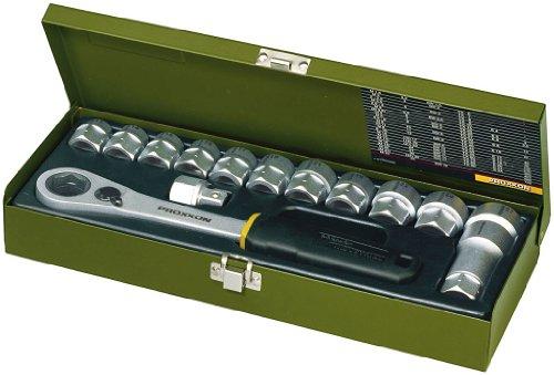 """PROXXON 23 604 2223604-Set carraca pasante 1/2"""" 14 pcs, metal, 13mm"""