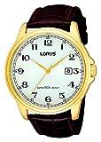 Lorus RS982AX9 - Reloj de Pulsera Hombre, Cuero, Color Marrón