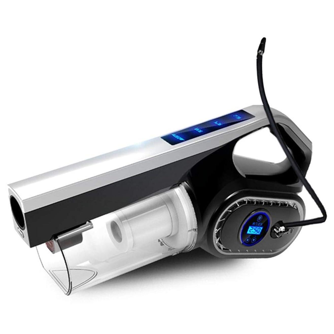 計算可能発掘するジェスチャー多機能ポータブルカー掃除機DC12V 120W液晶デジタル表示オートインフレータブルポンプ空気圧縮機家庭用クリーナー
