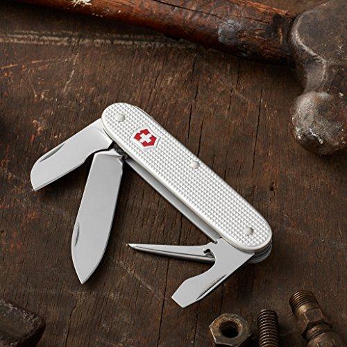 Victorinox Swiss Army Electrician Pocket Knife (Silver Alox Ribbed),Silver Alox, Ribbed