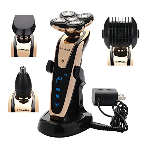 BEMAGSA Electric Shaver 5D Headed Flex Wet and Dry Waterproof Electric Razor Rotary Shaver for Men,4-in-1,1285 - Amazon Vine