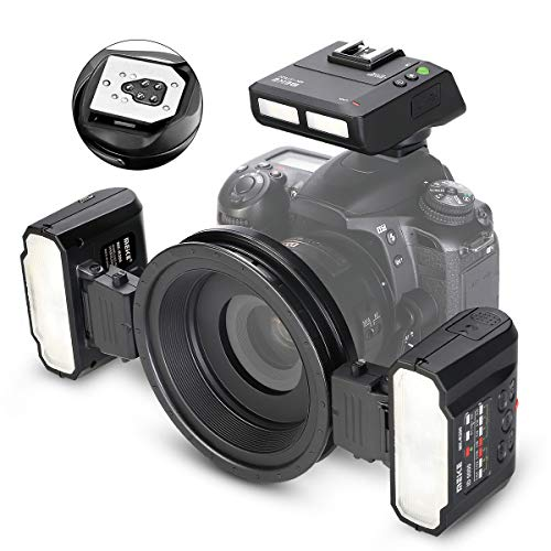Meike MK-MT24II Macro Twin Lite - Flash para cámaras réflex Digitales Canon