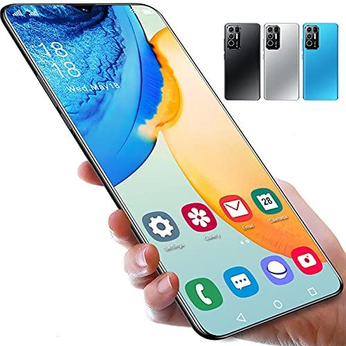 PENNY73 Teléfono Rino5 Pro Smartphones 6.7 Pulgadas 16 + 512GB Desbloqueo de Huellas Dactilares de Cara 32 + 50MP 10 Core 6800mAh Teléfono Móvil Andriod,Silver