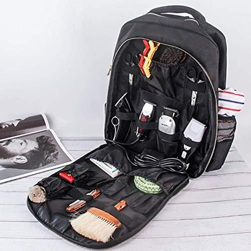 CTEGOOD Outil de Coiffure Portable Sac à Dos Sac de Maquillage de Mode avec Pochette à Ciseaux de Grande capacité pour Coiffeur (Noir)