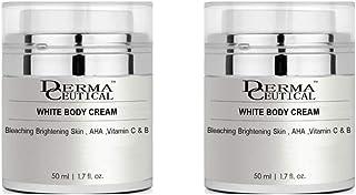 x2 WHITE BODY CREAM/Bleaching Brightening Skin, AHA,Vitamin C& B – DermaCeutical