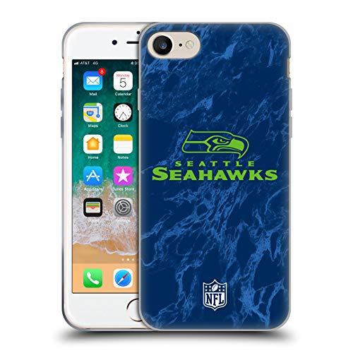 Head Case Designs Offizielle NFL Marmor Farbig 2018/19 Seattle Seahawks Soft Gel Huelle kompatibel mit Apple iPhone 7 / iPhone 8 / iPhone SE 2020