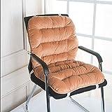 LJP Gartenstuhl auflagen Sitzkissen und Rückenkissen 100% Crystal Velvet Fabric bequem Krawatten-Design rutschfest Polsterauflage Sessel Eins Körper Warm halten Luftpolster Sitzpolster