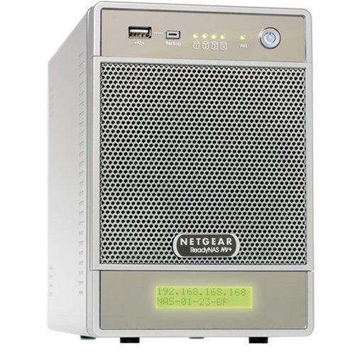 NETGEAR RND4410-100EUS ReadyNAS NV+ NAS-System mit Festplatten 4x1TB (4-Bay, SATA, USB, Ethernet) grau