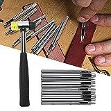 Juego de perforadores para cuero, perforador para cuero Práctico firme de alta calidad Afilado para perforar productos de cuero