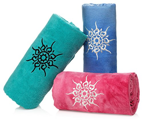 NamaSTAY Exercise Fitness Yoga Towel – Absorbent Microfiber Design That...