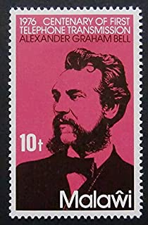 1976 Centenary Of First Telephone Transmission Alexander Graham Bell -Framed Postage Stamp Art 6858