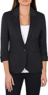 Ladies Knit Blazer (Medium, Black)