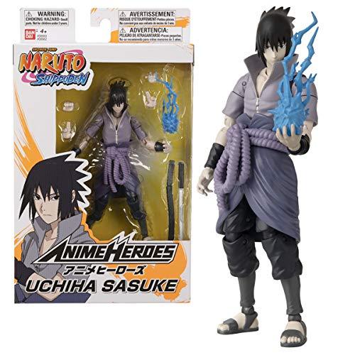 Bandai Naruto Shippuden-Figurine Anime Heroes 17 cm-Sasuke Uchiwa, 36902, Multicolore