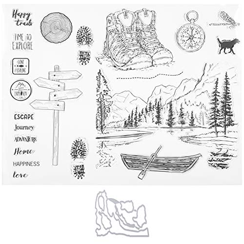 TPR Clear Stamps Clear Stamp Transparante stempel met duidelijke opdruk, voor het maken van fotoalbums