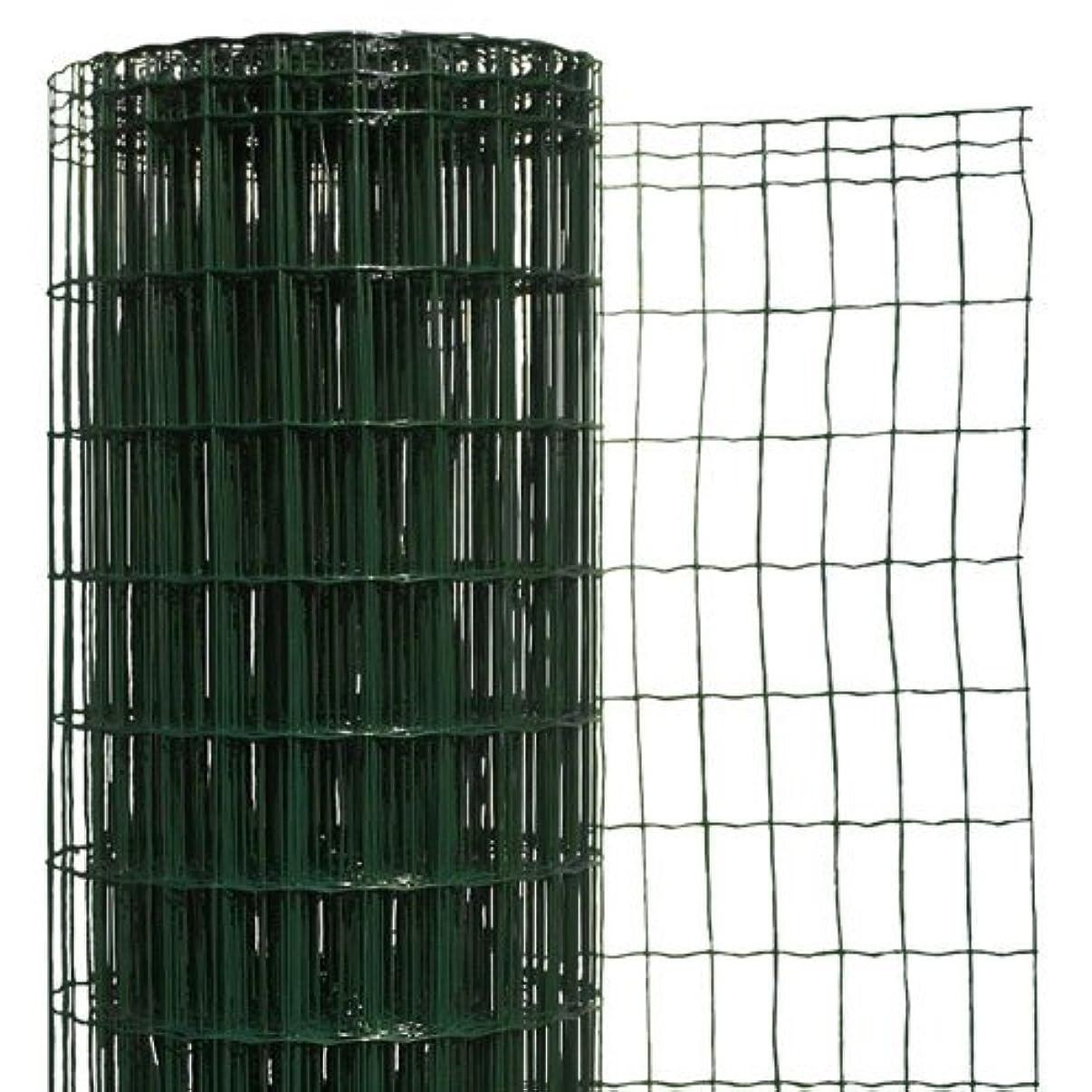 対象大胆火傷簡単金網フェンス?改良型 1500用ネット 【高さ:1.5m?長さ:20m?防錆処理+PVC加工】