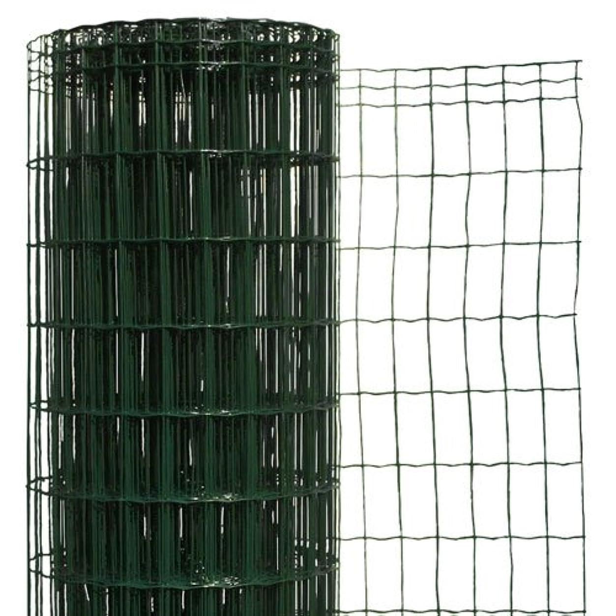 どんなときも足枷フォージ簡単金網フェンス?改良型 1500用ネット 【高さ:1.5m?長さ:20m?防錆処理+PVC加工】