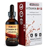 MAX Absorption, Vitamin B12 Sublingual Liquid Drops, 3000mcg Methylcobalamin Per Serving, 60 Servings,...