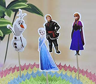 24x Cupcake Topper Picks – Frozen Themed Cupcake Toppers For Kids Party