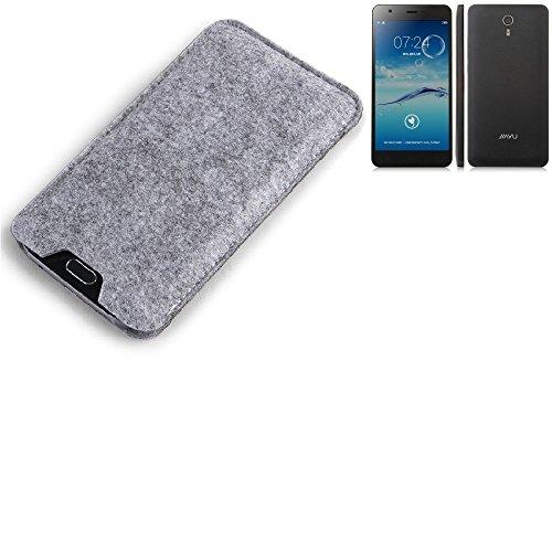 K-S-Trade® Filz Schutz Hülle Für Jiayu S3 Advanced Schutzhülle Filztasche Filz Tasche Case Sleeve Handyhülle Filzhülle Grau