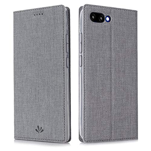Eastcoo Kompatibel Huawei Honor 10 Hülle Flip Folio Wallet Leder Hülle Tasche Schutzhülle Handyhülle mit [Standfunktion][Magnetic Closure] für Huawei Honor 10 Smartphone(Honor 10,Gray)
