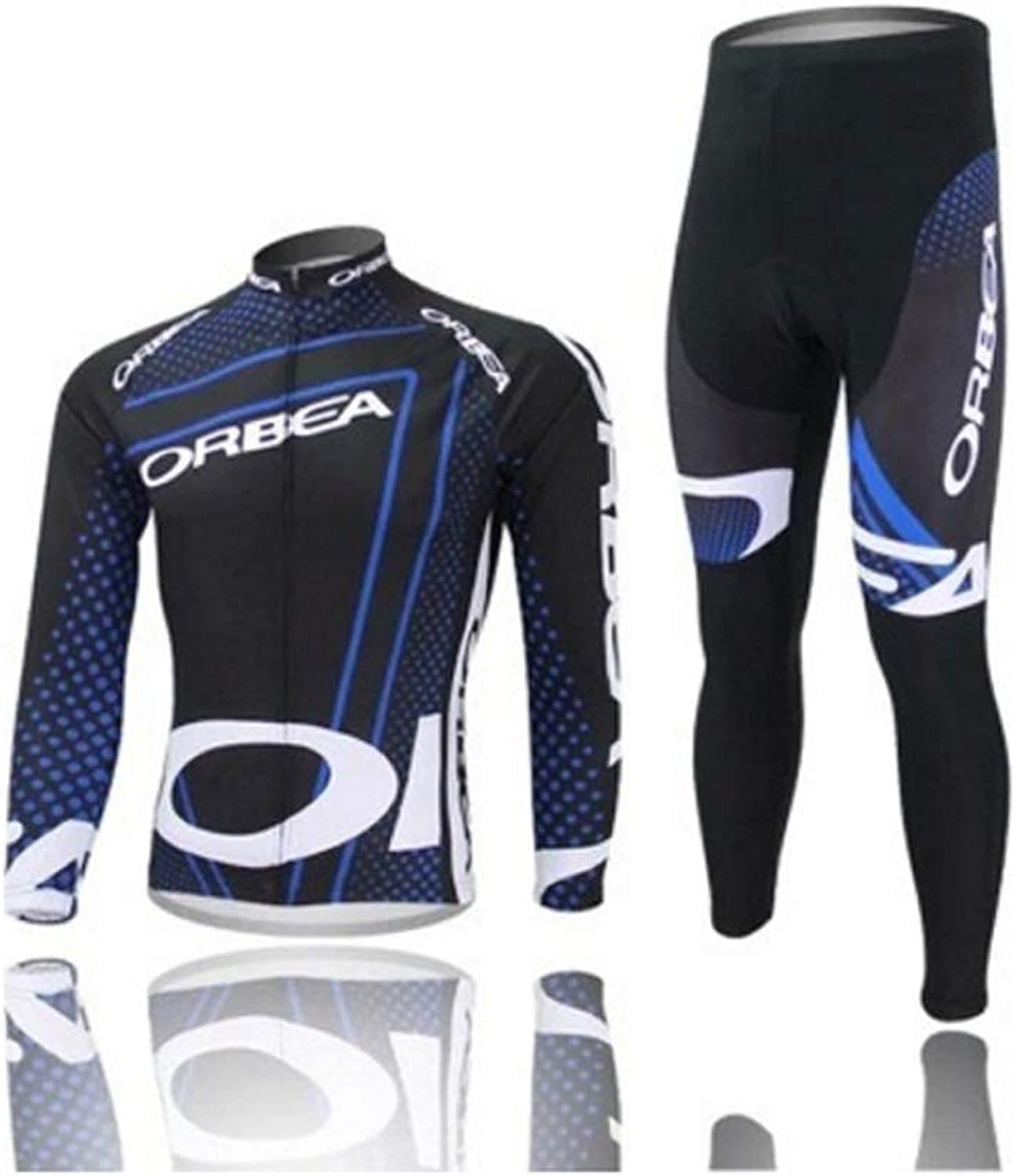 Men's Jersey Jersey Sportswear Set Long Sleeve Windproof Jersey Jacket + Pants Trousers