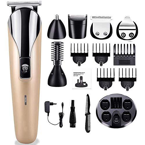 Monlida Cortapelos Profesional Hombre Barbero Electrico 6 en 1 Set de Afeitado...