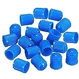 DDG EDMMS Tapas de plástico para válvulas de neumáticos de coche, moto, camiones, bicicleta y bicicleta (50 unidades), color azul