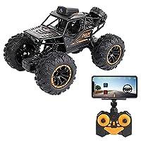 UimimiU RC車のオフロードモンスタートラックのバギー720p HDカメラのリモートコントロール車4WDクローラー電気自動車充電高速クライミングカー2.4GHzすべての地形子供のおもちゃ子供の贈り物 (Size : 2battery packs)