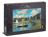 Ulmer Puzzleschmiede - Puzzle Claude Monet - Puente de Argenteuil: Puzzle de 1000 Piezas - El Famoso Cuadro del Artista como Rompecabezas