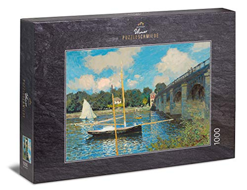 Ulmer Puzzleschmiede - Puzzle Claude Monet - Ponte di Argenteuil - Il Famoso Dipinto dell'artista Come Un Puzzle