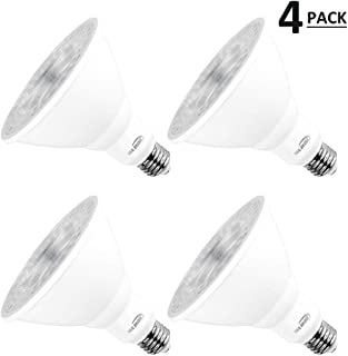 Par38 Bright Led Light Bulbs 5000k Natural Daylight Dimmable, E26 Led Bulb 18w(180watt Equivalent) Recessed Lighting, Outdoor Led Flood Light Bulbs Indoor, Energy Saving Light Bulbs Efficient (4 Pack)