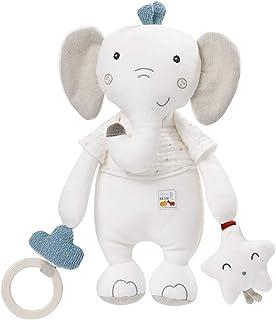 Fehn 056129 Activity-Elefant fehnNATUR – Bio-Greifspielzeug zum Schmusen und Spielen für Babys und Kleinkinder ab 0 Monaten – Größe: 30 cm Für Preis bitte klicken