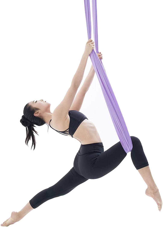 HYHD Yoga Hngematte Luft Anti-Schwerkraft Flugschaukel Luftseide Yoga Pilates Set Beinhaltet Stahlkarabiner Verlngerungsgurte,2