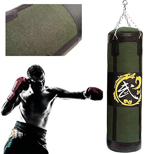 Saco de Boxeo,Bolso Pesado De Boxeo, Set de boxeo Bolsa de perforación pesada llena, lienzo colgando pesado Boxeo Bolsa de perforación con entrenamiento de cadena, Bolsa de perforación para entrenamie