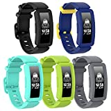 SPOBIT Compatible with Fitbit Ace 2 Bands for Kids 6+,TPU Silicone Bracelet Accessories Sport Strap Boys Girls Wristbands for Fitbit Inspire HR & Ace 2