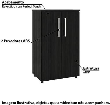 Armário para Escritório Multiuso com 2 Portas - Preto