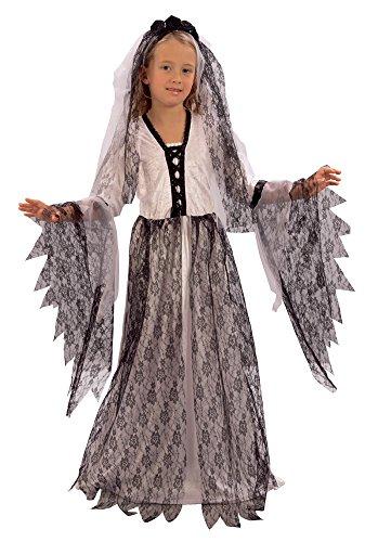 Bristol Novelty CC641 Costume de Mariée Cadavre pour Enfant, Taille, Noir, Petit