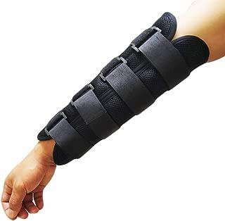 Wrist and Forearm Splint for Men Women Kids, Adjustable Forearm Brace Breathable Fixed Support Night Splint for Sprains, Dislocation, Arthritis,Tendinitis (L (for Men))